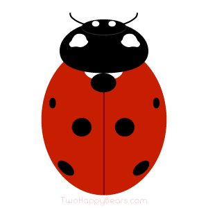Words that begin with the letter L - Ladybug.