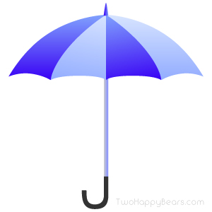 Words that begin with the letter U - Umbrella.