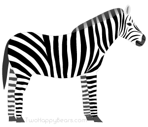 Words that begin with the letter Z - Zebra.