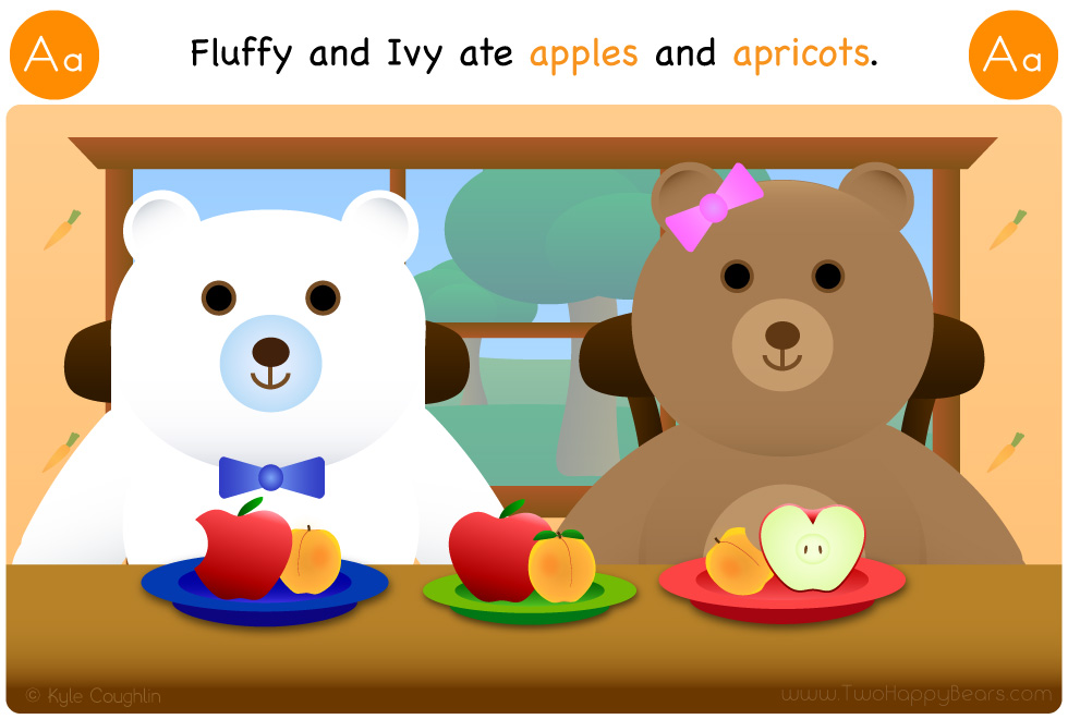 A is for apple and apricot
