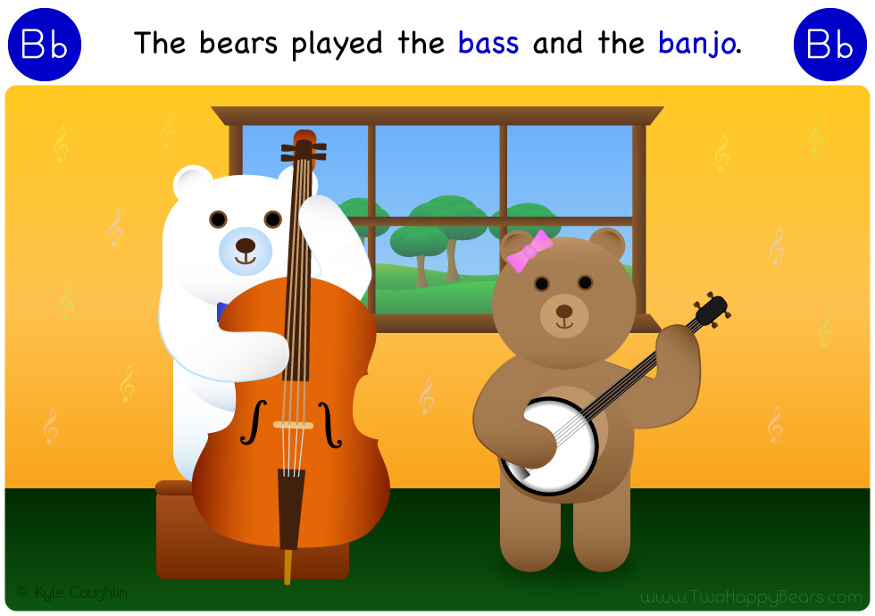 B is for bass and banjo